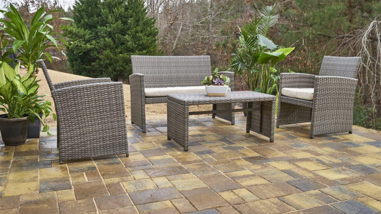 Renew an old concrete patio with pavers