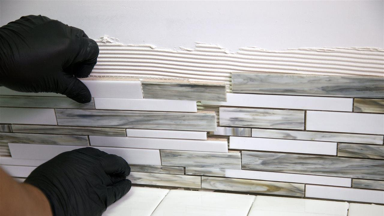Simplify home improvement projects by installing tile with an adhesive