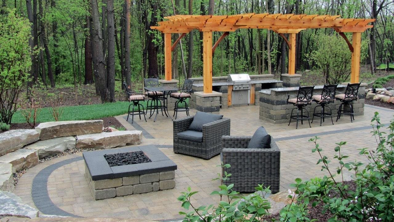 A DIY fire pit creates a welcoming outdoor retreat