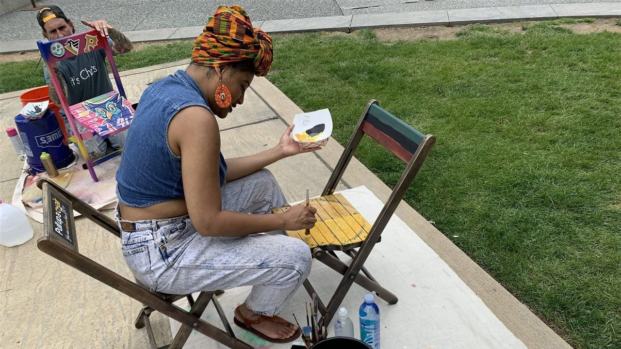 With 90 painted chairs, Pittsburghers celebrate the arts while welcoming visitors
